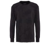 Sweatshirt mit Ripp-Details in Anthrazit