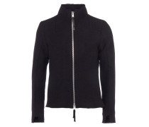 MJ19 Jacke mit Zipper in Schwarz