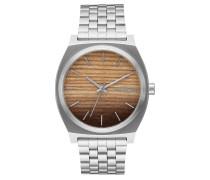 TIME TELLER Armbanduhr in Silber Wood