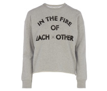 Sweater Print in Grau meliert