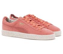 BASKET x CAREAUX Sneaker aus Rauhleder in Pink