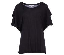 FIBIE T-Shirt mit Layer-Sleeves in Schwarz