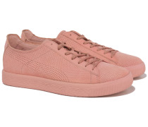 x Stampd CLYDE Sneakers mit Lochmuster in Rosa