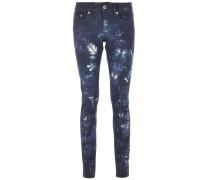 NEWLONG P907 Jeans mit Batikmuster Blau