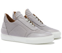 Low Top Sneakers perforiert in Grau