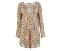 MALLORY Kleid mit Grafik-Muster Beige