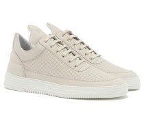 LOW TOP PERFORATED TONE Sneakers in Hellgrau