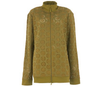 ZIP UP EMBRODERED EDGE Jacke in Olive Branch