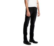 LOU SLIM SAFETY BLACK Slim Jeans Schwarz