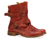 X713-5 Biker Boots Rotbraun
