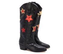 CAMPEROS Cowboy-Boots in Schwarz