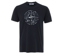 T-Shirt mit Logo-Print in Navy