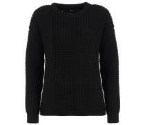 GEZA Strick-Pullover in Schwarz