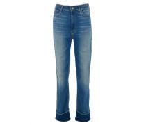 THE MAVERICK CUFF High-Rise cropped Jeans in Blau