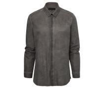 LEVIN Hemd aus Baumwoll-Mix in Grau