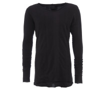 langes Longsleeve im Layer-Look in Schwarz