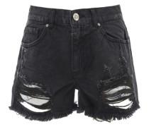 GINA High Waist Jeans-Shorts in Schwarz