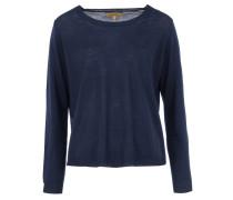 FLORA Feinstrick-Pullover in Blau