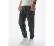 KEN Sweat-Pants mit Ripp-Details in Khaki