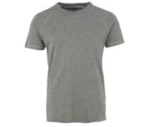 T-Shirt mit sporlichen Raglanärmeln in Grau-meliert