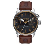 SAFARI DELUXE LEATHER Armbanduhr Schwarz/Braun