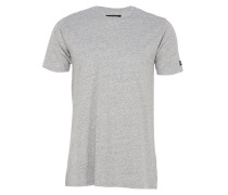 FLINTLOCK Basic T-Shirt in Grau meliert