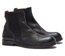55601-S1 SAURO Chelsea-Stiefel in Schwarz