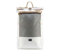 Rucksack mit Rollverschluss in Weiß