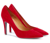 Billi Veloursleder Pumps in Rot