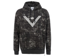 x White Mountaineering Hoodie mit abstraktem Camouflagemuster in Olive