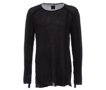 Longsleeve in Rippstrick-Optik in Schwarz