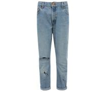 Jeans aus Vintage Denim Hellblau