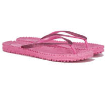CHEERFUL Glitter Flip Flops in Pink