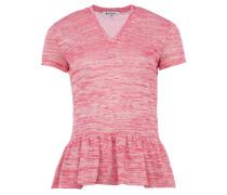 ALNAIR T-Shirt aus Strick mit Schößchen in Magenta