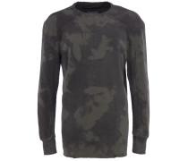 Sweatshirt mit Ripp-Details in Khaki