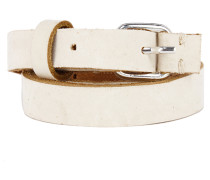 SLENDER schmaler Ledergürtel in Beige