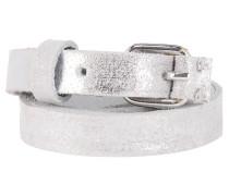SLENDER schmaler Ledergürtel in Silber