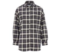 PELINE Oversize-Bluse in Schwarz-Weiß