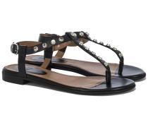 192 Sandalen mit Nieten Schwarz