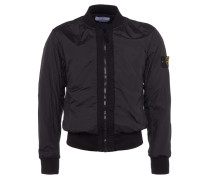 Bomberjacke mit Zipper-Tasche in Schwarz