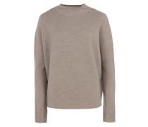 LYA Feinstrick-Pullover mit Stehkragen in Beige