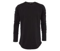DARIUS Pullover mit Zipper in Schwarz