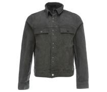 Jeansjacke mit Reißverschluss Grau