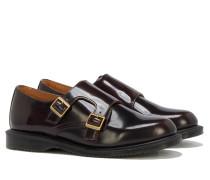 PANDORA Double-Monk-Strap-Schuh in Kirschrot
