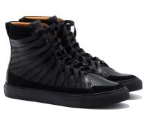 FALCO Leder-Sneaker in Schwarz