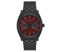 TIME TELLER DELUXE Armbanduhr in Schwarz