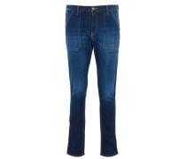 Ba&sh SALLY Jeans mit Ziernähten in Blau