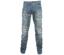 LOVEDAY SPECIAL Used-Optik Jeans Blau