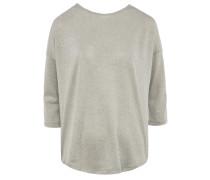glitzerndes Halbarm-Shirt im Oversize Cut Champagner