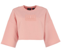 CROPPED CREW NECK T-Shirt in Bridal Rose
